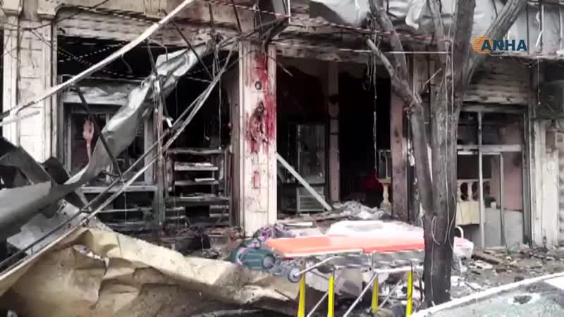 Терракт в городе Манбидж на севере Сирии, пострадавшие бойцы СДС и сил Коалиции.