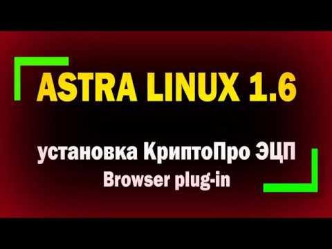 Установка и настройка КриптоПро ЭЦП Browser plug in в Astra Linux 1 6 Для подключения к Госуслугам