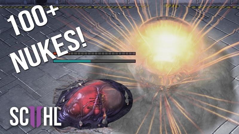 100 NUKES in EPIC 80 Minute Starcraft Game - Scarlett vs. Maru