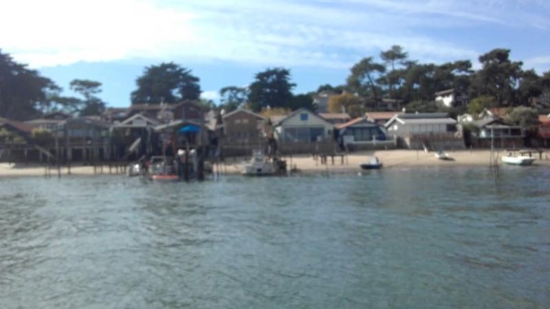 на лодке по заливу на Аркашон залив