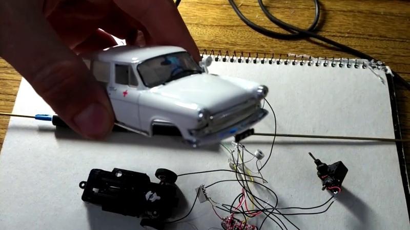 ГАЗ 22 ВОЛГА радиоуправляемая модель в масштабе 1:43 ЧАСТЬ 3