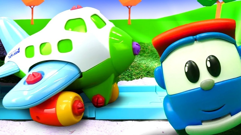Игры для детей с машинками. Строим взлетную полосу для самолета
