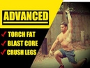 ADVANCED Kettlebell Fat Burning Circuit Crushes Your Core Legs Too Chandler Marchman