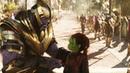 Первая встреча Таноса и Гаморы. Флешбэк Мстители Война бесконечности