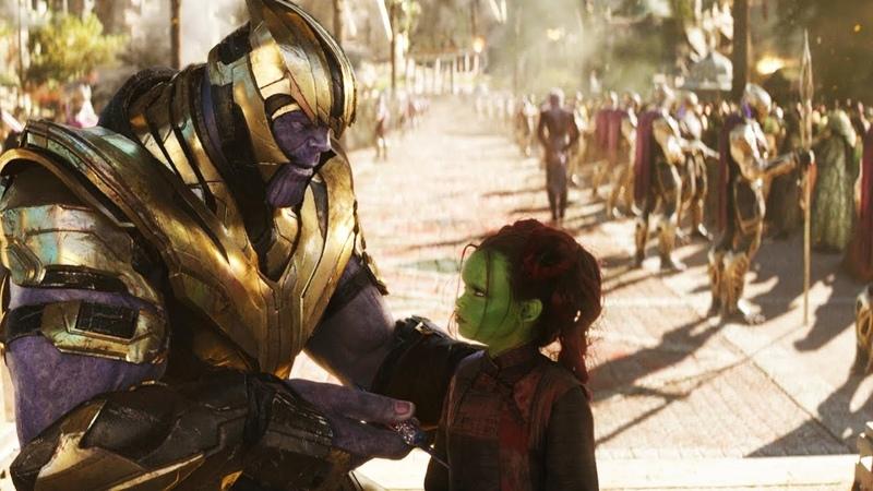 Первая встреча Таноса и Гаморы. Флешбэк | Мстители: Война бесконечности