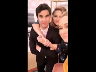 VIDEO Darren Criss with Becca Tobin and Jac Vanek via Beccas IG Story