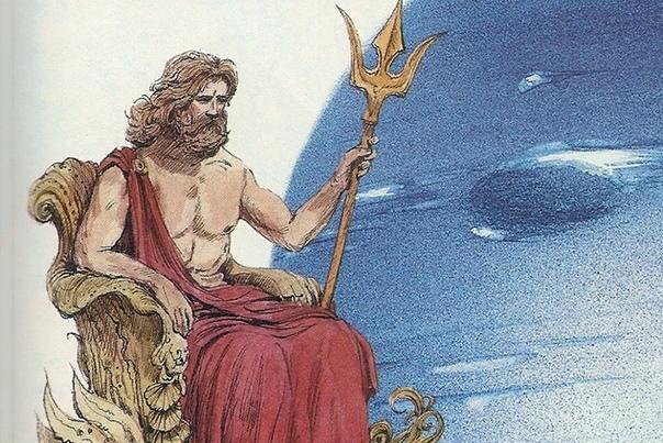 Посейдон В мифологии древних греков главный морской бог, входит в тройку первых богов Олимпа вместе с повелителем подземного царства Аидом и громовержцем Зевсом. Посейдон считается ответственным