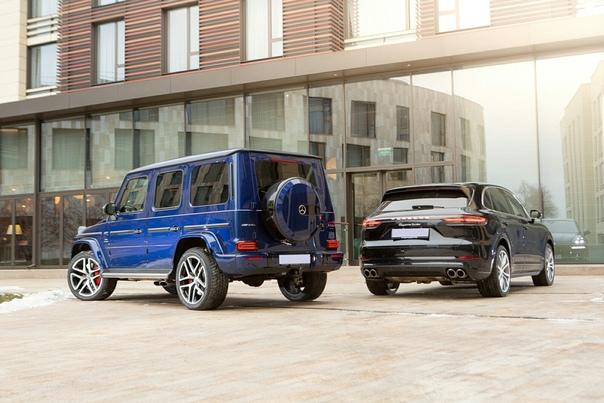 Крутые парни: тест Mercedes-AMG G 63 и Porsche Cayenne Turbo. Две легенды, две машины, о которых мечтают все и женщины, и мужчины. Но какая из них реально берет за душу«Гелик» и «Кайен» в