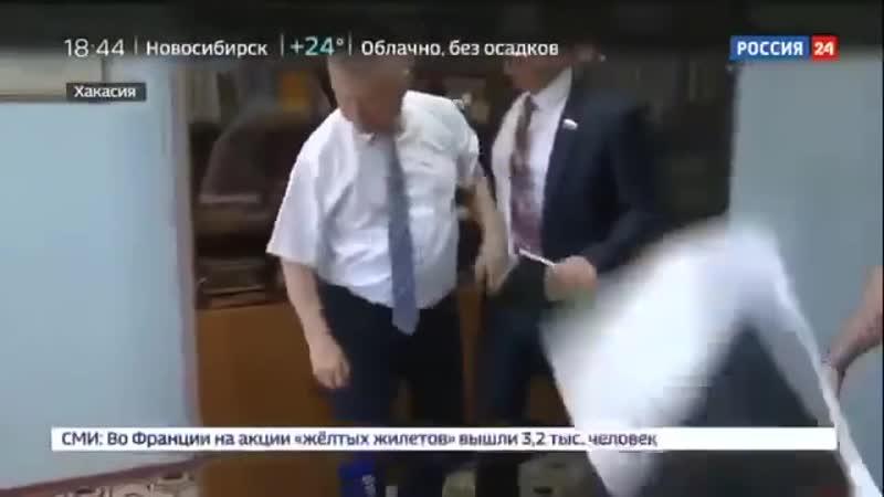 В Хакасии глава района напал на журналиста канала Россия 24