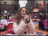 Мария Рак.ЗИМА караоке на майдане 01.01.2012