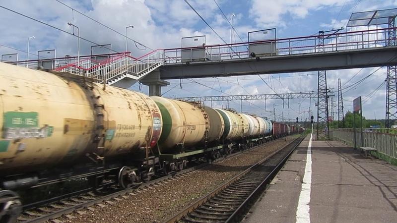 Электровоз ВЛ11М-325\319Б с грузовым поездом станция Балабаново 11.07.2018