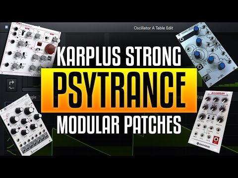 Waldorf NW-1 Karplus Strong Modular Psytrance Patches and a bit about MULTS