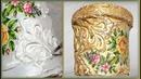 Цветочный горшок/кашпо из пластикового ведерка | Декор цветочного горшка