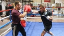 CHEMISTRY! Carl Frampton SETS PADS ALIGHT with temporary trainer