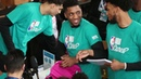 Donovan Mitchell participates in the NBA Cares Day of Service
