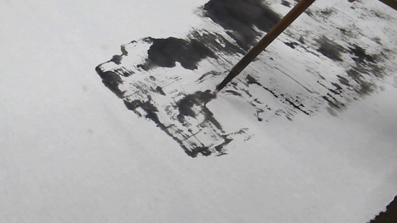 MVI 1562南菁藝術學院賴明郎教授現場示範山水畫作1