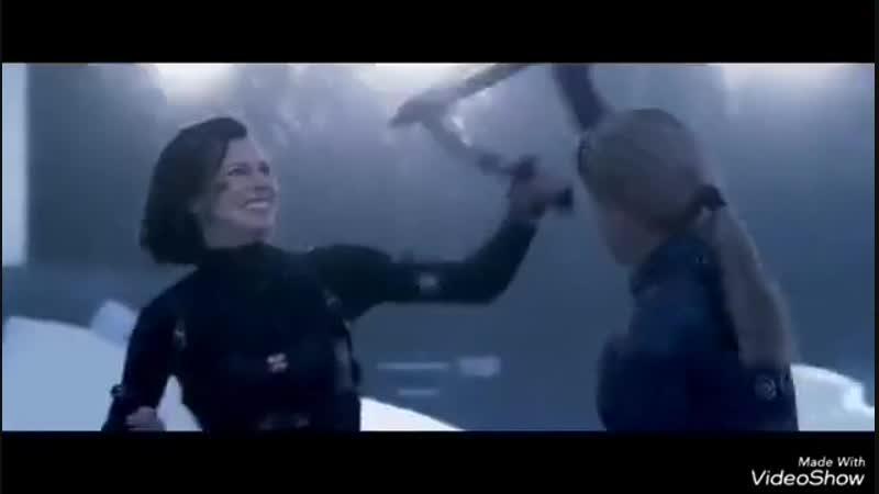 Alics vs Jill movie catfight with Milla Jovovich