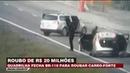 Carro-forte é roubado e explodido em rodovia de SP