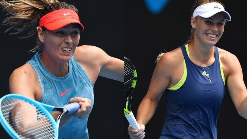 Maria Sharapova vs Caroline Wozniacki 3 Highlights 3R Australian Open 2019