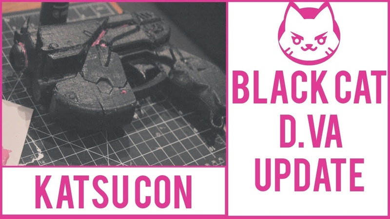 BLACK CAT D.VA COSPLAY BUILD!