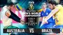 Australia vs Brazil Highlights Mens World Championship 2018