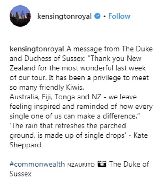 Принц Гарри показал трогательный снимок беременной Меган Маркл Принц Гарри выложил в официальном аккаунте Кенсингтонского дворца в Instagram фото Меган, стоящей посреди древнего леса в Роторуа,