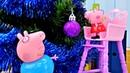 Giochi per bambini. Addobbi per l' albero di Natale. PeppaPig italiano