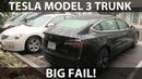 Tesla Model 3 trunk design flaw