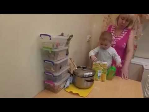Киря в гостях у бабушки