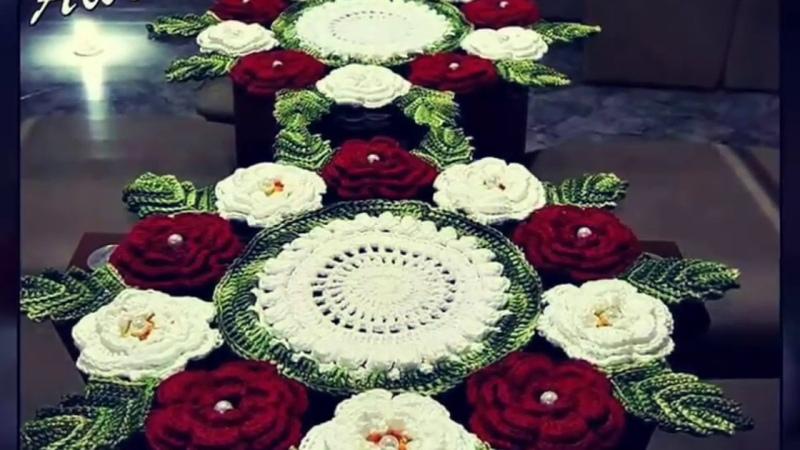 Lindos caminhos de mesa em crochê Inspirações
