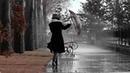 Картинка осень. Девушка, дождь, зонт.