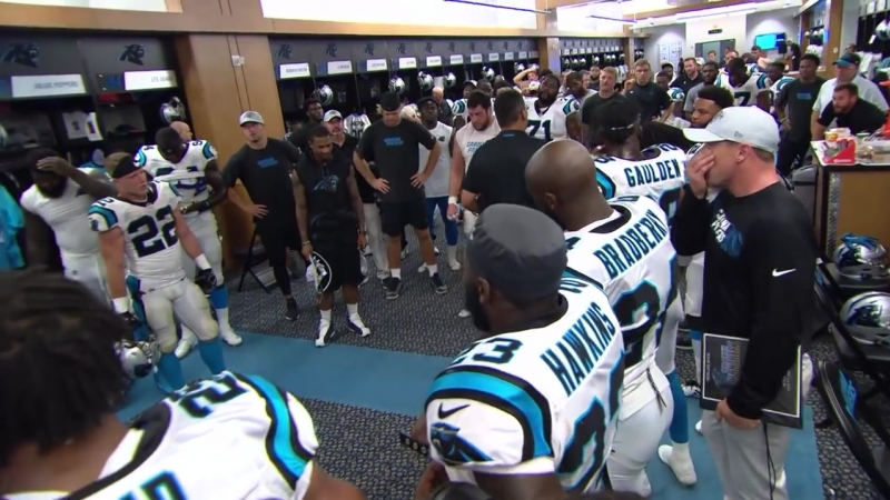 Jubilant locker room celebrates Ganos heroics