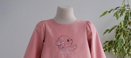 Детское платье вельветовое теплое с мишкой хлопок 100 % – купить в  интернет-магазине на Ярмарке Мастеров.. 9a921bb4538