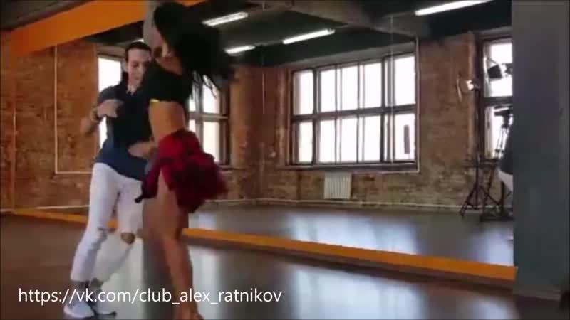 Сальса Чино и Диана танцуют сальсу на съёмках сериала Сальса