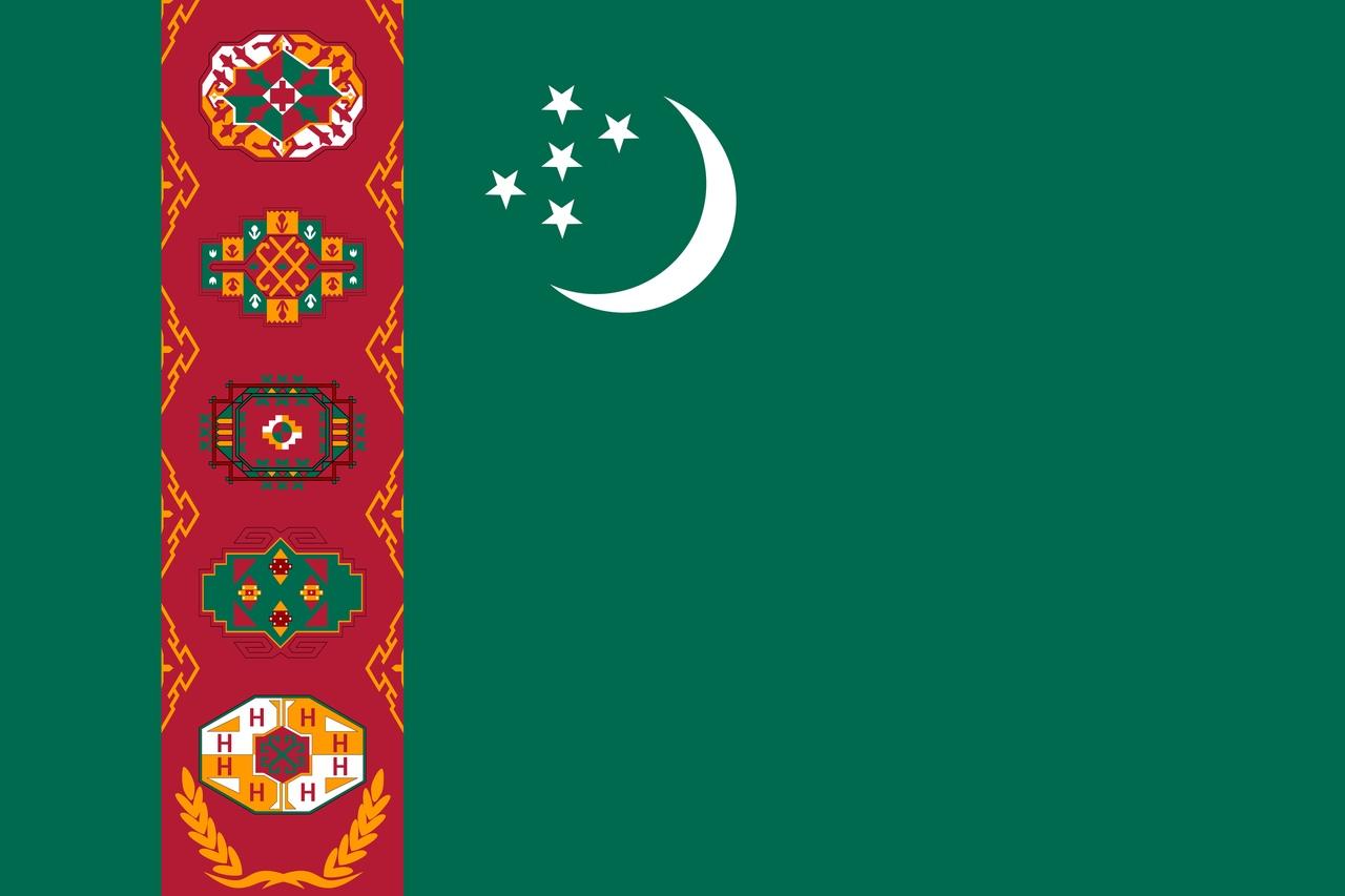 Флаг Туркменистан