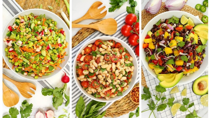 3 No Cook Lunch Recipes   Easy Bean Salads