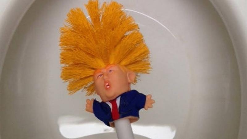 Commander in crap Trump toilet brush making bathrooms great again
