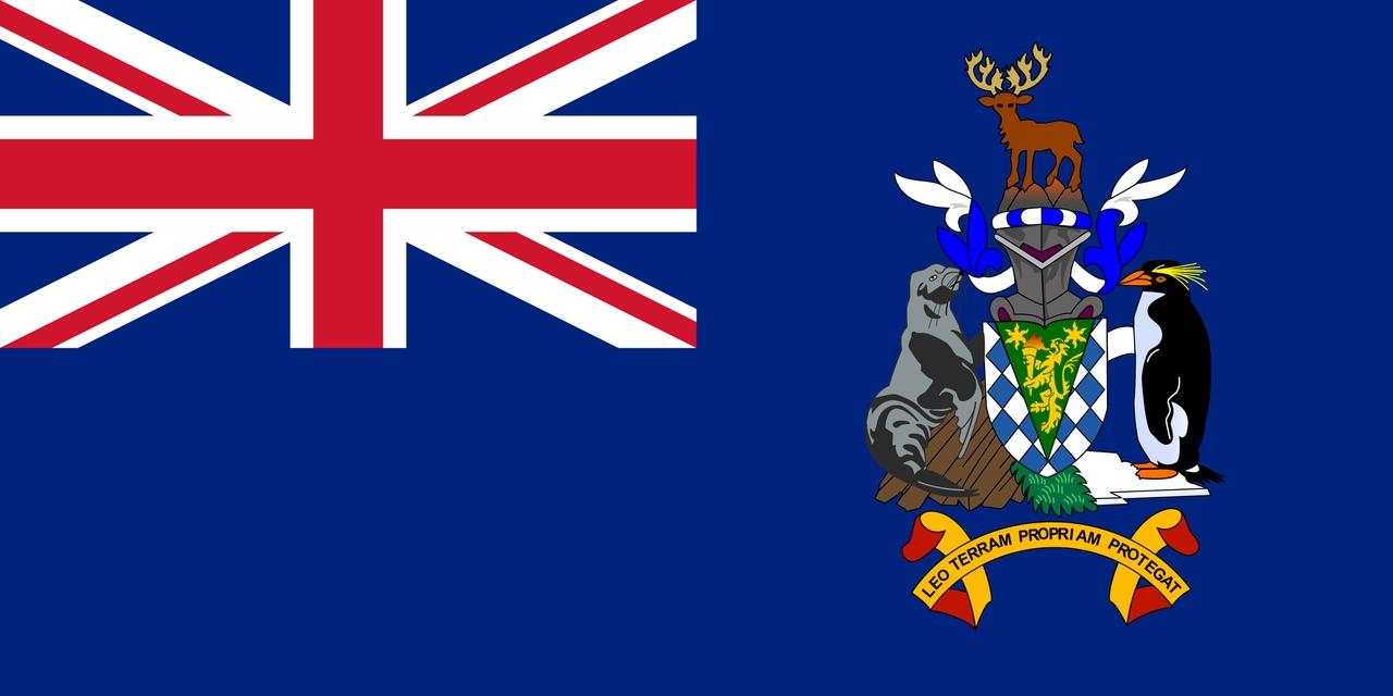 Флаг Южная Георгия и Южные Сандвичевы острова