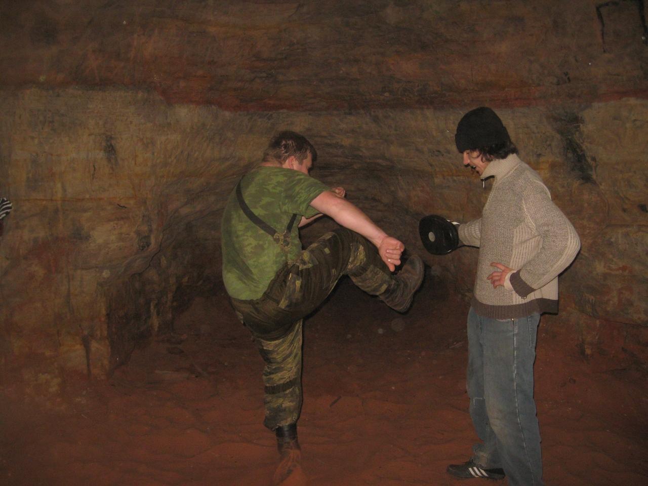 Рукопашный бой в пещере. Спортивная тренировка в подземелье.И прогулка по пещере Пляжной