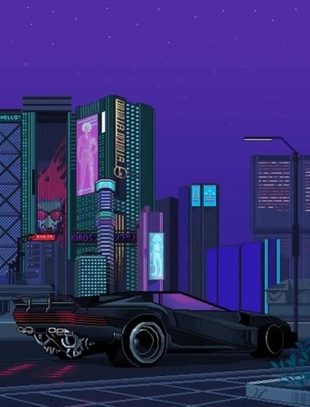Cyberpunk 2077 8bit