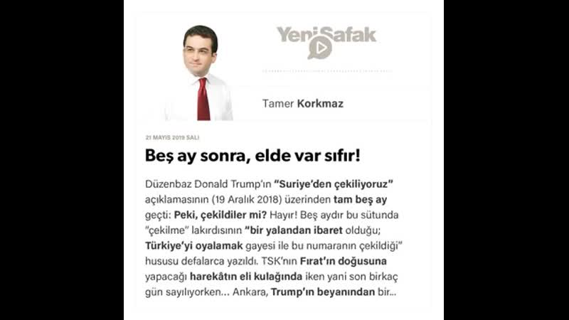 Tamer Korkmaz - Beş ay sonra, elde var sıfır! - 21.05.2019