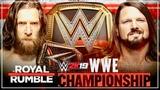 WWE Royal Rumble 2019 Daniel Bryan vs. AJ Styles (WWE Championship) WWE 2K19 - Prediction