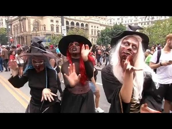 Бразилия. Улицы Сан-Паулу заполонили зомби