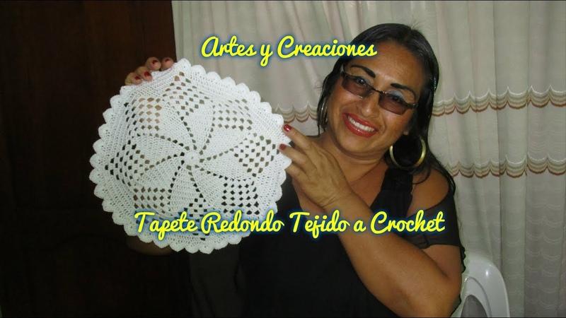 TAPETE REDONDO TEJIDO A CROCHET