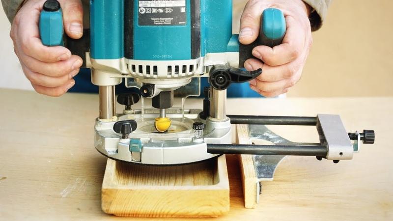 Фрезерование прямоугольной тарелки по направляющей milling wood dish
