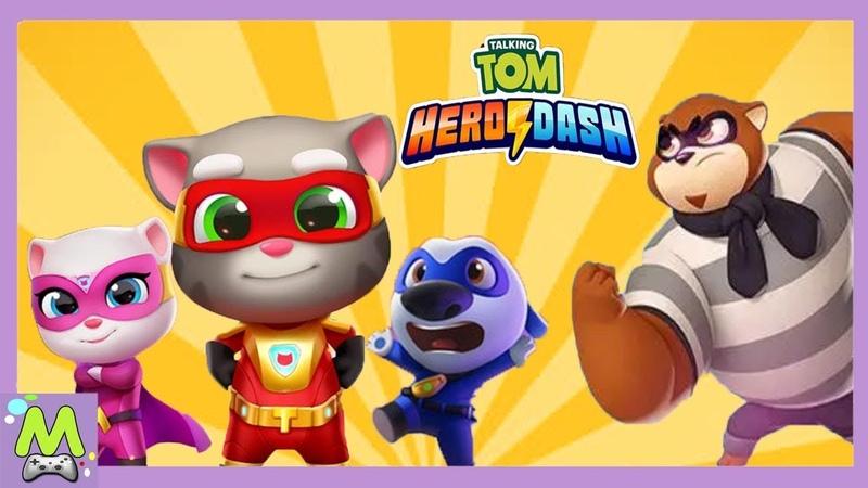 Говорящий Том Погоня Героев.Миссия Дня с Супергероем Хэнком.Все Герои в Новой Игре