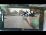 Момент столкновения в Калининском районе