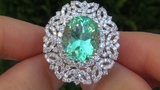 TOP GEM 13.19 Carat Colombian Emerald &amp Diamond Ring Solid 18K Gold