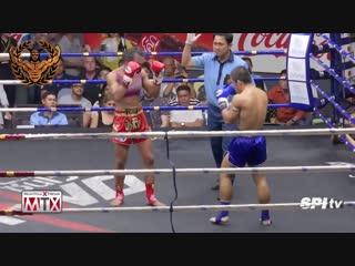 Девушка против Мужчины муай тай Тайский бокс