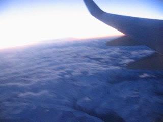 Закат и Алапы с самолета